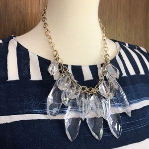 Zara clear acrylic statement necklace